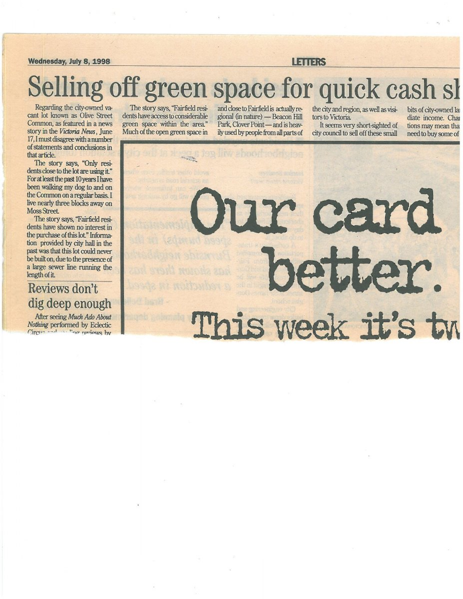 Jul-8-1998-Selling-Off-Green-Space-For-Quick-Cash-Short-Sighted-Tom-Loring-Letter-Vic-News-1